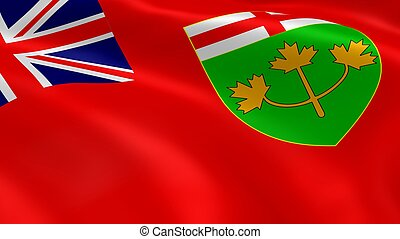 Ontarian flag in the wind. Part of a series.