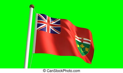 Ontario flag (with green screen)