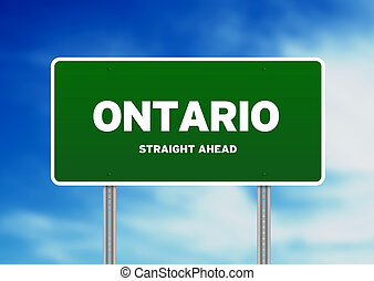 Ontario Highway Sign - High resolution graphic of a ontario...