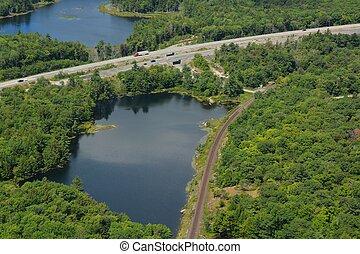 Ontario higway aerial