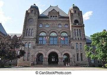 Ontario Legislature Building in Toronto, Canada