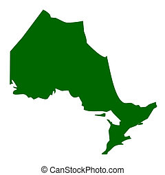 Ontario Province - Map of Ontario province or territory in...
