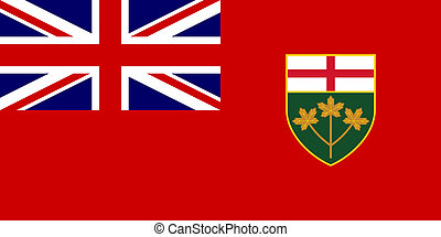 Ontario State Flag - Illustration of Canadian state of ...