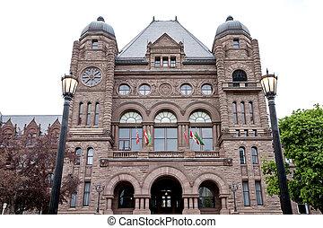 Ontario's Legislative Building Toronto Canada downton...