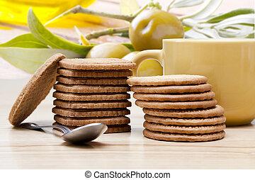 ontbijt, biscuit