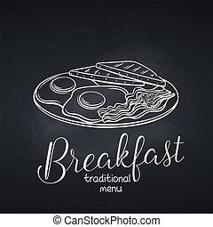 ontbijt, gebraade eieren