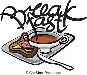 ontbijt, handschrift