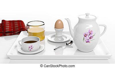 ontbijt, set