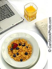ontbijt, werkende