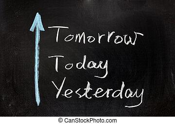 ontem, amanhã, hoje
