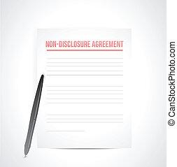 onthulling, niet, documents., illustratie, overeenkomst