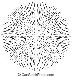 ontploffing, stralen, asymmetrisch, abstract, onregelmatig, lijnen, element, effect., lines., radiaal