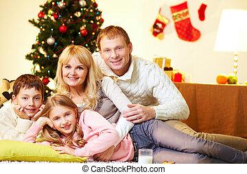 ontspannen, gezin