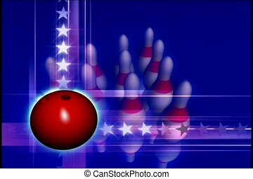 ontspanning, spel, bowling