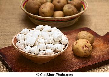 ontwaterend, aardappels, tunta, boliviaan