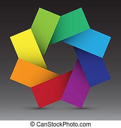 ontwerp, achtergrond, kleurrijke, element