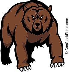 ontwerp, beer, illustratie