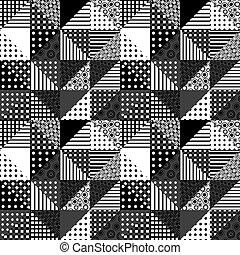 ontwerp, black , witte , lapwerk
