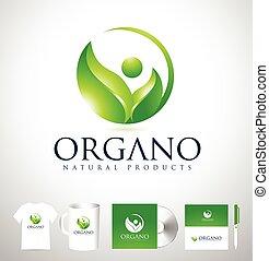 ontwerp, blad, organisch, logo