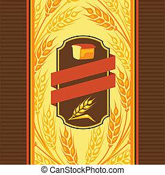 ontwerp, bread., verpakken