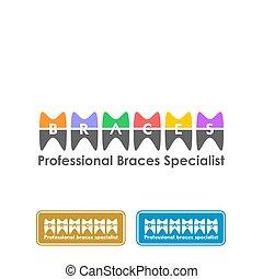 ontwerp, bretels, logo