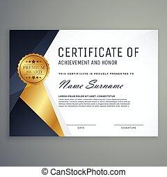 ontwerp, certificaat, toewijzen, premie, appreciatie