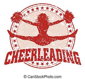 ontwerp, cheerleading, -, ouderwetse