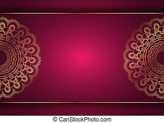 ontwerp, elegant, mandala, decoratief, achtergrond