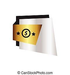 ontwerp, etiket, ster, zilver, goud