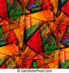 ontwerp, gele, rood, groene, watercolor, seamless, achtergrond, een, textuur, abstract, verf , model, kunst kleur, water, borstel
