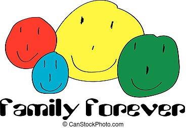 ontwerp, gezin, voor altijd