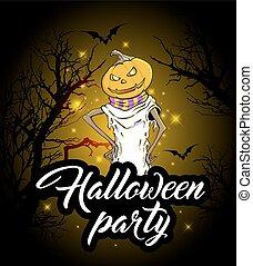ontwerp, halloween partij