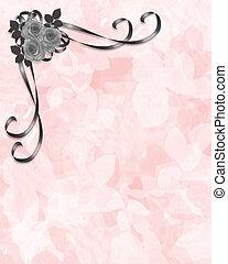 ontwerp, hoek, rozen