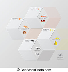 ontwerp, infographic, moderne, richtingwijzer, mal