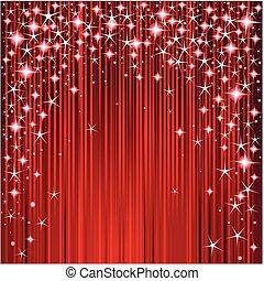 ontwerp, kerstmis, de strepen van sterren