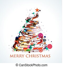 ontwerp, kerstmis, kleurrijke