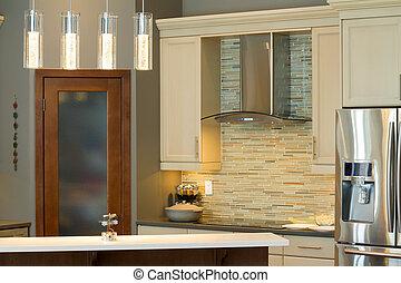 ontwerp, keuken, interieur