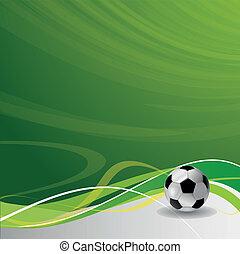 ontwerp, mal, de voetbal van het voetbal, /