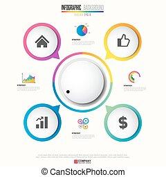 ontwerp, mal, infographics