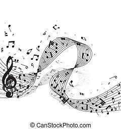 ontwerp, muzikale aantekeningen