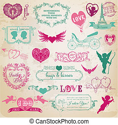 ontwerp onderdelen, -, dag, valentine
