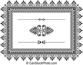 ontwerp onderdelen, grens, ornament