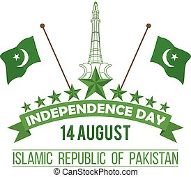ontwerp, pakistan's, onafhankelijkheid dag