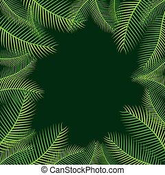 ontwerp, palm vel, boompje, achtergrond
