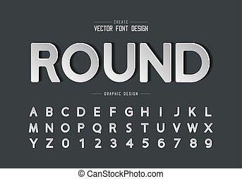 ontwerp, papier, getal, tekst, achtergrond, grafisch, ronde, lettertype, lettertype, alfabet, vector