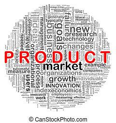 ontwerp, product, circulaire, woord, markeringen