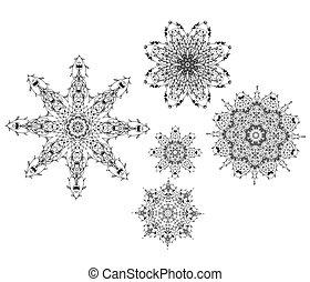 ontwerp, set, ornament, jouw, arabesk