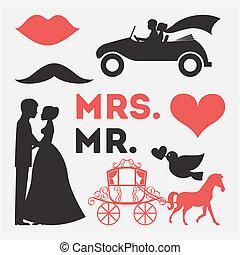 ontwerp, trouwfeest