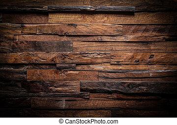 ontwerp, van, donker, hout, achtergrond