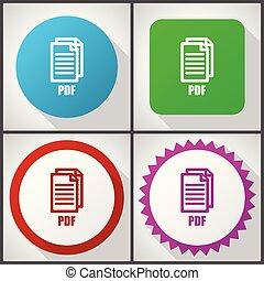 ontwerp, vector, gemakkelijk, pdf, bewerken, dollar, options., pictogram, set, eps, f:/svg/570, 4, 10., iconen, plat